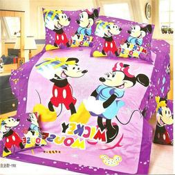 Mickey and bedding set size bed sheets for girls bedroom
