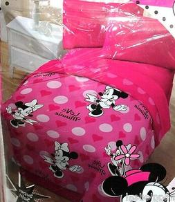 """MINNIE MOUSE TWIN COMFORTER 64""""X 86"""" SUPER SOFT PINK FOR GIR"""