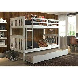 Donco Kids Mission Twin over Twin Bunk Bed with Trundle or W