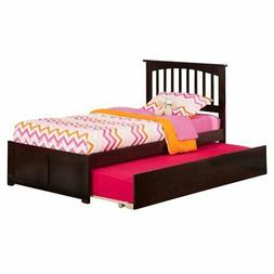 Atlantic Furniture Mission Twin Platform Bed with Flat Panel
