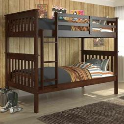 Donco Kids Mission Twin/ Twin Bunk Bed