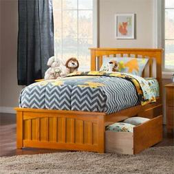 Atlantic Furniture Mission Twin XL Storage Platform Bed in C