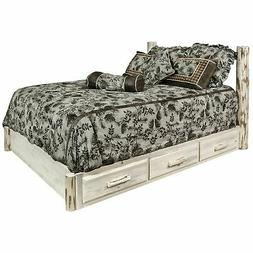 Montana Twin Platform Bed With Storage In Lacquered Finish M