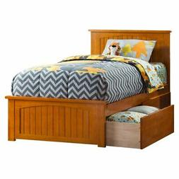 Atlantic Furniture Nantucket Platform Bed with Matching Foot