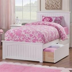Atlantic Furniture Nantucket Urban Twin Storage Platform Bed