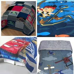 nEw BOYS DISNEY BED COMFORTER - Cars Planes Jake Muppets Bed