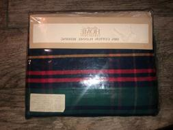 NEW Eddie Bauer Flannel Flat Sheet Twin Red Blue Plaid Cotto