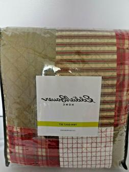 New Eddie Bauer Home Camano Island Plaid Red Twin Comforter