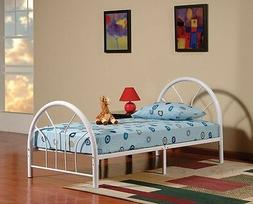 New Metal Twin Size Kid Bed Frame with Headboard and Footboa
