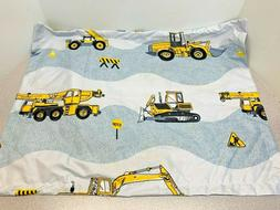 NEW Road Work Equipment Print TWIN Duvet Cover Set W/2 Pillo
