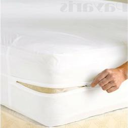 Waterproof Zippered Vinyl Mattress Cover None Allergenic Bed