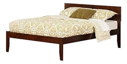 Atlantic Furniture Orlando Full Platform Bed with Open Footb