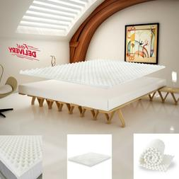 Egg Crate Convoluted Foam Mattress Topper Orthopedic Firm Pa