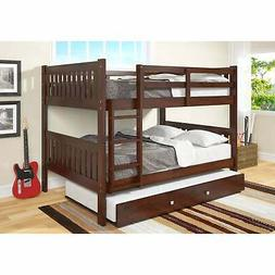 Full Over Full Mission Bunk Bed with Trundle