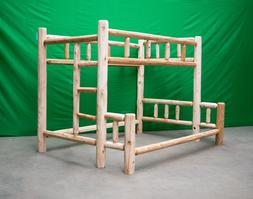 Premium Log Bunk Bed - Full Over Queen $759 - Free Shipping