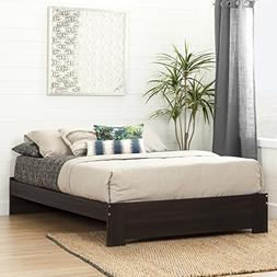 South Shore Reevo Queen Platform Bed , Matte Brown