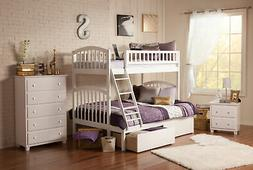 Atlantic Furniture Richland Twin Over Full Bunk Bed with Sto