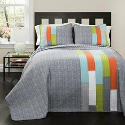 Shelly Striped Quilt Set by Lush Decor