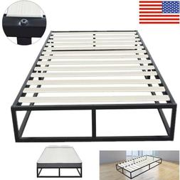 Simple Basic Iron Bed Twin Size Stable Bed Frames Black