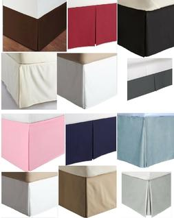 Split Corner Tailored Bed Skirt 610 TC Solid Cotton US Bed S