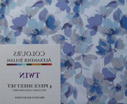 SPRING FLOWERS COLOURS BY ALEXANDER JULIAN 4PC TWIN SHEETS B