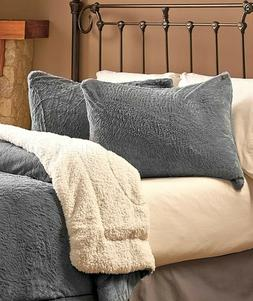 Stone Gray Twin Luxury Plush Reversible Comforter Pillow Sha