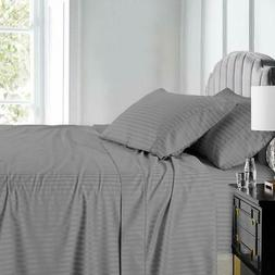 Royal Hotel Stripe Sheets - 600 Thread Count - 4PC Bed Sheet