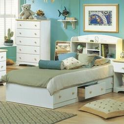 South Shore Summertime Mates Bed with 3 Drawers - 76.3 x 40.