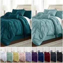 Chezmoi Collection Sydney Pinch Pleat Pintuck Bedding Comfor