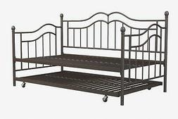 RealRooms Talia Twin Size Daybed Metal Frame and Twin Size T