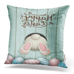 Emvency Throw Pillow Covers Easter Motive White Bunny Bottom