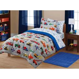 Transportation Coordinated Bedding Set Boys Tractors Cars Tr