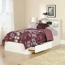 Twin Bed Frame With Bookcase Storage Headboard Girls Teens K