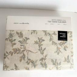 Eddie Bauer Twin Bed Percale Sheet Set Tapestry Vine NEW She
