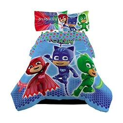 4 Piece Twin Size PJ Masks Bedding Set Includes 3pc Twin She