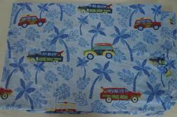 Pottery Barn Kids Twin Duvet Cover Cars Vehicles Palm Trees