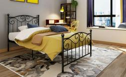 Twin Full Size Metal Bed Frame Twin Bed Platform Headboards