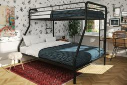 DHP Twin Over Full Metal Bunk Bed Frame, Black