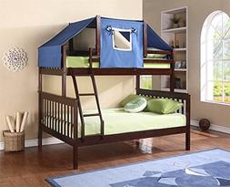 Donco Kids Donco Kids Twin Over Full Mission Bunk Bed with T