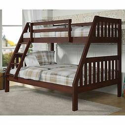 Donco Kids 1018-3TFCP Twin Over Full Mission Bunkbed in Dark