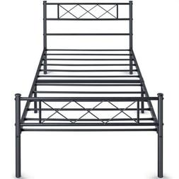 Twin Platform Metal Bed Frame with Headboard and Footboard/M