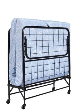 Twin Roll-Away Folding Bed Guest Sleeper Cot Pull-Out w Foam