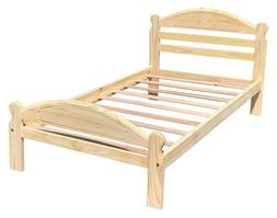 Twin Size Bed Arizona Solid Pine Wooden Single Bed Unfinishe