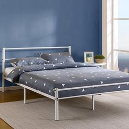 Metal Bed Frame Twin Size Stable Platform With Sturdy Headbo