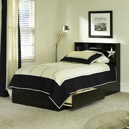 Mainstays Mates Storage Bed With Bookcase Headboard, Twin, C