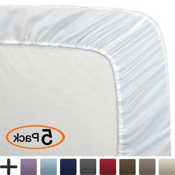 Ultra-Soft Luxury 1800 Thread Count Microfiber 5-Pack Fitted