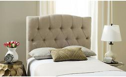 SAFAVIEH Upholstered Headboard Tufted Linen Padded Twin Size