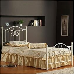 Hillsdale Westfield Metal Poster Bed in Off White-Twin