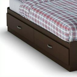 Willow Twin Mates Bed in Chocolate