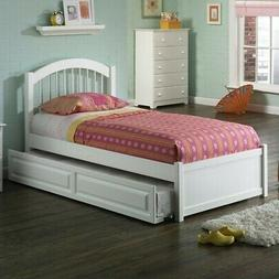 Atlantic Furniture Windsor Platform Bed with Flat Panel Foot